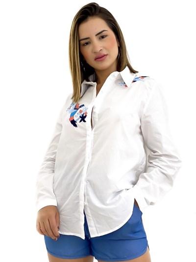 CAMISA BORDADO BEIJA-FLOR REF: JW-628 LUMA