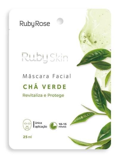 MÁSCARA FACIAL CHÁ VERDE RUBY ROSE