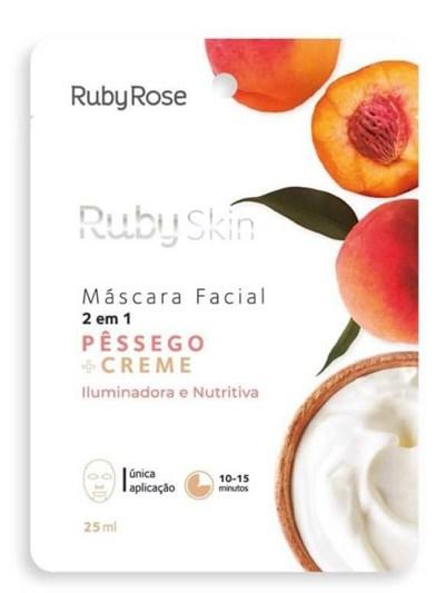MÁSCARA FACIAL PÊSSEGO RUBY ROSE